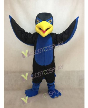 New Black and Blue Hawk Falcon Mascot Costume