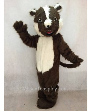 High Quality Adult Brown Badger Mascot Costume