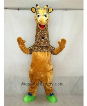 High Quality Adult Realistic New Friendly Giraffe Mascot Costume