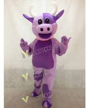 Adorable Lovely Purple Cow Mascot Costume