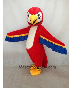 High Quality Realistic New Friendly Red Macaw Parrot Bird Mascot Costume