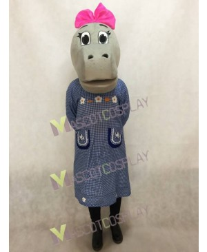 Hilary Hippo Head ONLY Mascot Costume