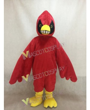 Happy Red Bird Cardinal Mascot Costume