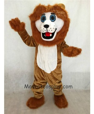 High Quality Realistic New Friendly Brown Andy Lion Mascot Costume