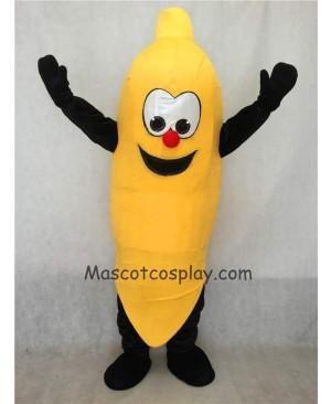 High Quality Realistic New Happy Yellow Banana Mascot Costume