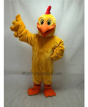 Cute New Long Hair Plush Chicken Doodle-Doo Mascot Costume