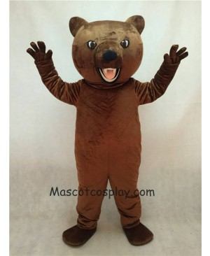 High Quality Realistic New Brown Fierce Grizzly Bear Mascot Costume