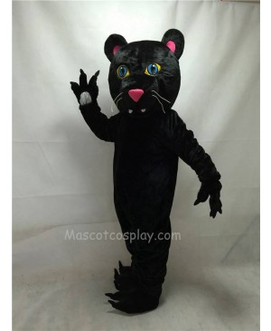 Fierce New Black Panther Mascot Costume with Blue Eyes