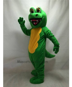 Fierce Adult Green Dragon Mascot Costume