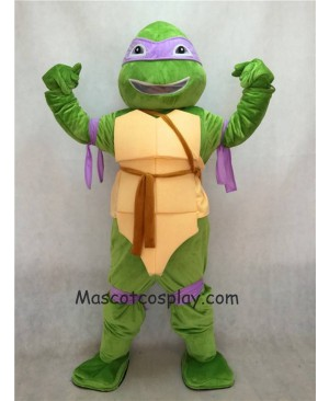 Hot Sale Purple TMNT Teenage Mutant Ninja Turtle Donatello Donnie Mascot Adult Character Costume Birthday Party Fancy Dress Outfit