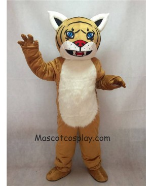 Hot Sale Adorable Realistic Light Yellow Brown Wildcat Cub Mascot Costume