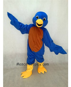 Hot Sale Adorable Realistic New Blue Bird Mascot Costume with Yellow Beak