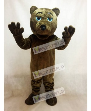 Dark Brown Bear Mascot Costume