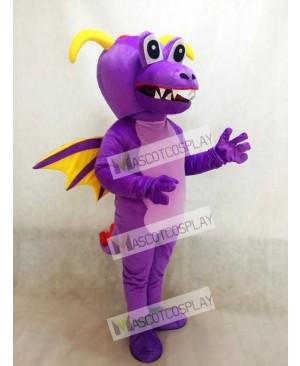 Cute Purple Thorn Dragon Mascot Costume