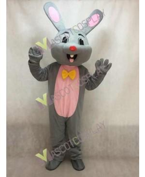 Easter Grey Bunny Rabbit Hare Mascot Costume