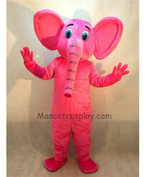 Cute New Pink Elephant Mascot Costume