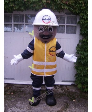 High Quality Adult Safety Builder Mascot Costume