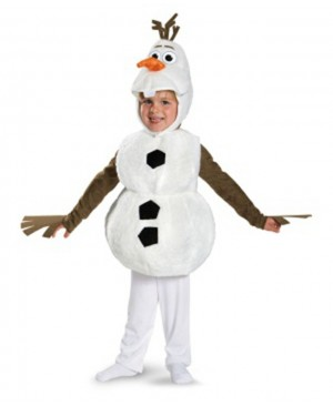 Deluxe Plush Adorable Child Olaf Christmas Cosplay Costume For Toddler Kids Favorite Cartoon Movie Snowman Party Dress-up