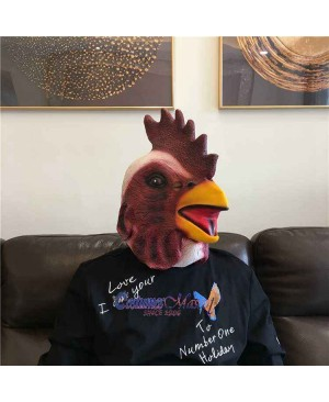 Latex Chicken Rooster Head Mask Full Head Animal Mask Cosplay Masquerade