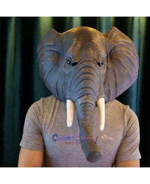 Latex Elephant Head Mask Full Head Animal Mask Cosplay Masquerade