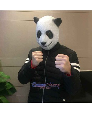 Latex Panda Head Mask Full Head Animal Mask Cosplay Masquerade