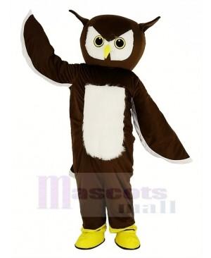 Brown Owl Mascot Costume Animal