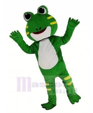 Cute Green Frog Mascot Costume