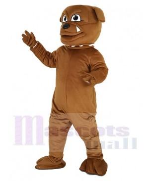 Cute Brown Bulldog Mascot Costume Animal