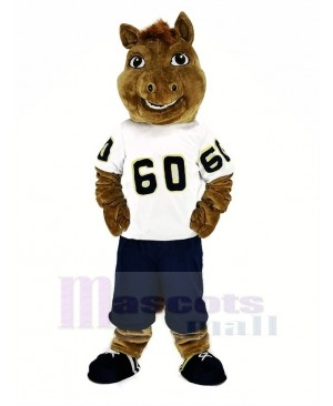 Sport Horse with White T-shirt Mascot Costume Animal