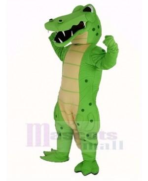 Power Green Crocodile Mascot Costume Animal