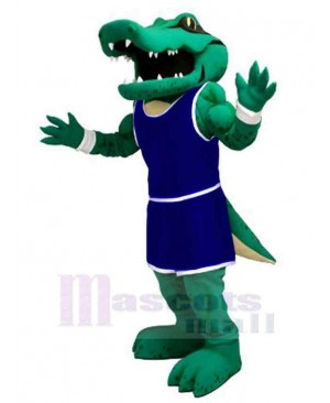 Power Alligator with Navy Blue Uniform Mascot Costume Animal