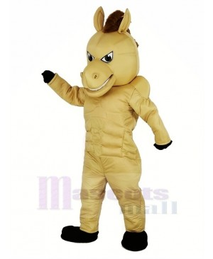 Light Brown Power Horse Mascot Costume Animal