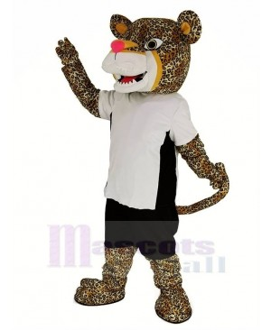 Power Jaguar with T-shirt Mascot Costume Animal