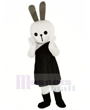 White Easter Bunny Rabbit Mascot Costume Animal