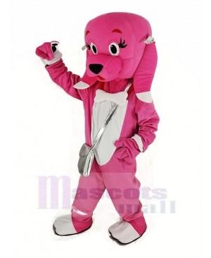 Pink Dog Mascot Costume Animal