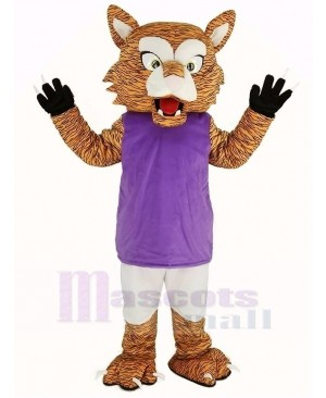 Wildcat with Purple Vest Mascot Costume Animal