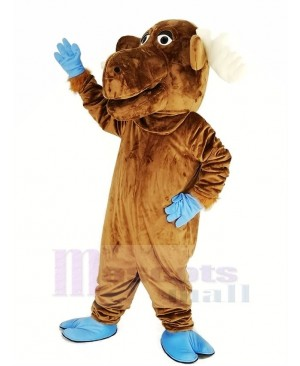 Funny Brown Moose Mascot Costume