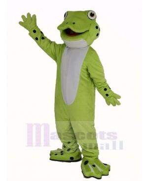 Cute Happy Frog Mascot Costume