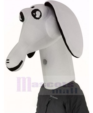 White Aardvark Mascot Costume Animal Head Only