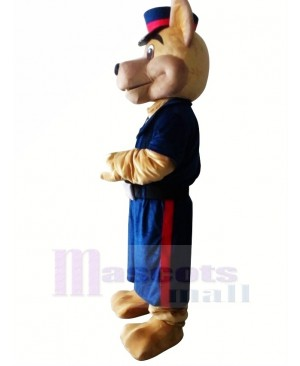 Police Dog Adult Mascot Costume Halloween Christmas Cartoon