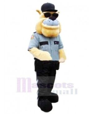 Police Dog With Sunglasses Mascot Costume Cartoon