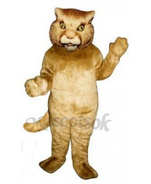 Cute Golden Panther  Mascot Costume