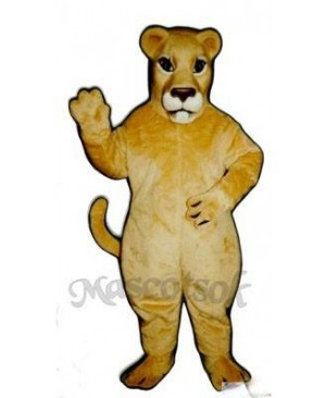 Cute Realistic Lioness Lion Mascot Costume