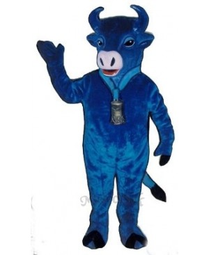 Blue Belle Cattle Mascot Costume