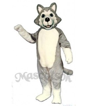 Cute Wolf Dog Mascot Costume