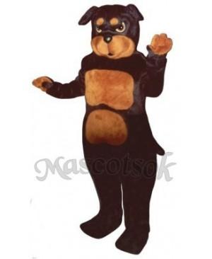 Cute Rottweiler Dog Mascot Costume