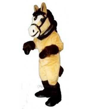 Clyde Clydesdale Horse with Collar & Harness Mascot Costume
