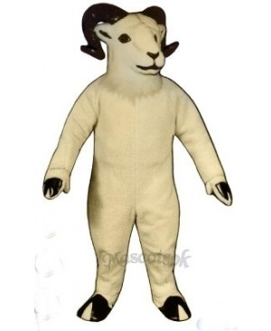 Cute Sheep Big Horned Mascot Costume