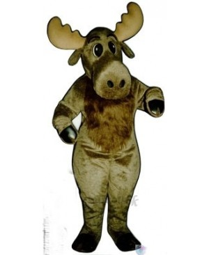 Cute Milton Moose Christmas Mascot Costume