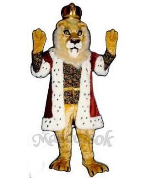Cute King Lionel Lion Mascot Costume